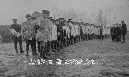 British Soldiers In Their New Goatskin Coats Issued By The War Office For The Winter Of 1914.jpg
