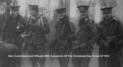 Non Commissioned Officers With Souvenirs Of The Christmas Day Truce Of 1914.jpg